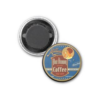 Imán del anuncio del café