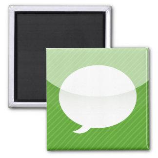 imán del App del iPhone - mensajes