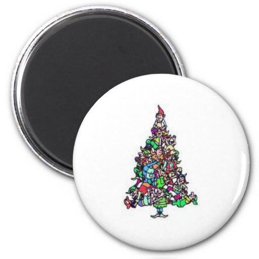 Imán del árbol de navidad del duende