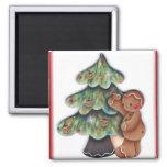 Imán del árbol de navidad del pan de jengibre
