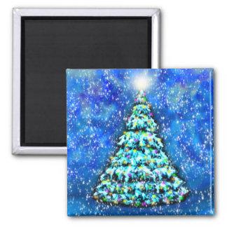 Imán del árbol de navidad que brilla intensamente