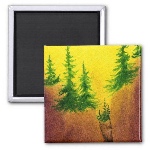 Imán del árbol de pino