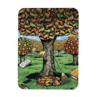 Imán del árbol del libro