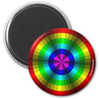 Imán del arco iris de la ilusión óptica