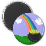 Imán del arco iris y de la mina de oro