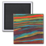 Imán del arte abstracto de la tapicería #3