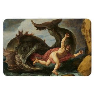 """Imán del arte de """"Jonah y de la ballena"""""""