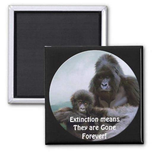 Imán del arte de la fauna del primate de los goril