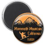 Imán del arte de la snowboard de Mammoth Mountain