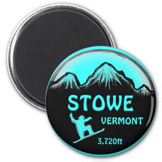 Imán del arte de la snowboard del trullo de Stowe