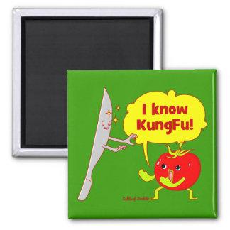 Imán del arte del Doodle del tomate de KungFu