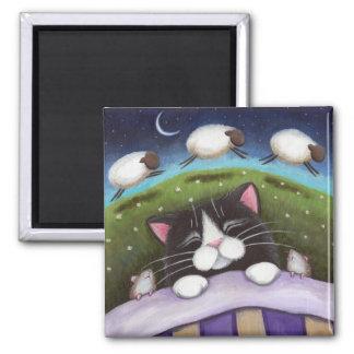 Imán del arte del gato y del ratón de la fantasía