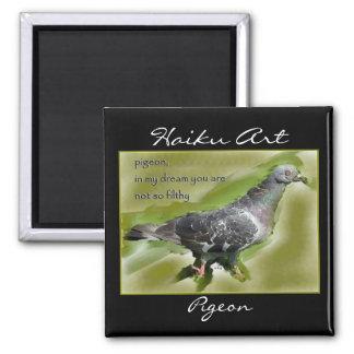 Imán del arte del Haiku de la paloma