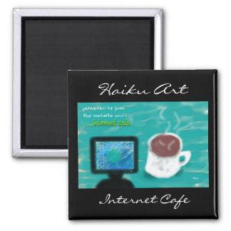 Imán del arte del Haiku del café de Internet