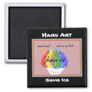 Imán del arte del Haiku del hielo del afeitado