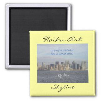 Imán del arte del Haiku del horizonte de New York