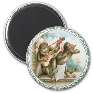 Imán del arte del vintage - monos antropomorfos