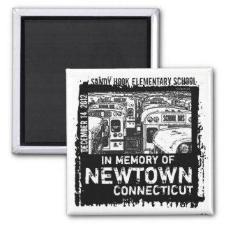 Imán del autobús de la memoria de Newtown