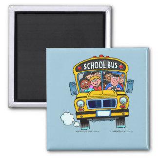 Imán del autobús escolar