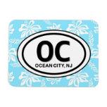 Imán del azul de la ciudad NJ del océano OC