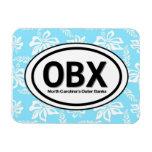 Imán del azul de OBX Outer Banks NC