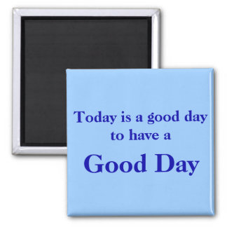 Imán del azul del buen día