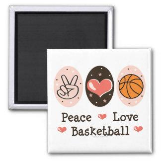 Imán del baloncesto del amor de la paz