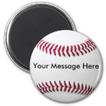 Imán del béisbol con el mensaje