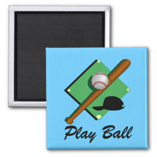 Imán del béisbol de la bola del juego