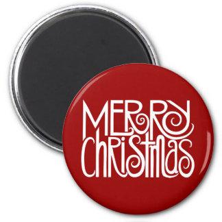 Imán del blanco de las Felices Navidad