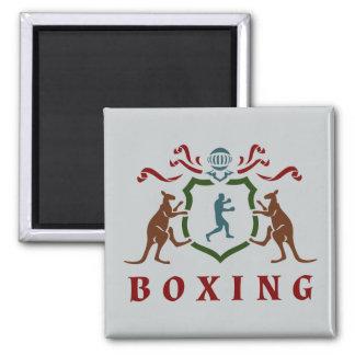 Imán del blasón del canguro del boxeo
