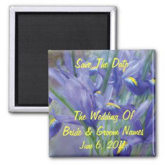 Imán del boda de la Reserva--Fecha del ramo del ir