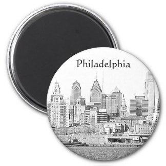 Imán del bosquejo de Philadelphia