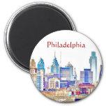 Imán del bosquejo del color de Philadelphia