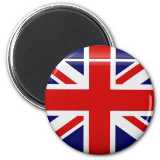 Imán del botón de la bandera de Reino Unido