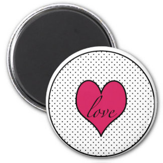 Imán del botón del amor