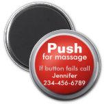 Imán del botón del masaje