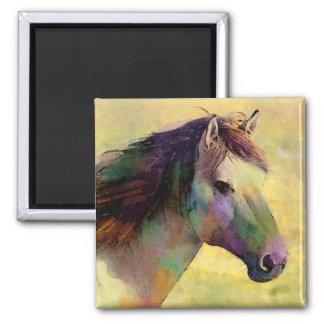 Imán del caballo del Watercolour