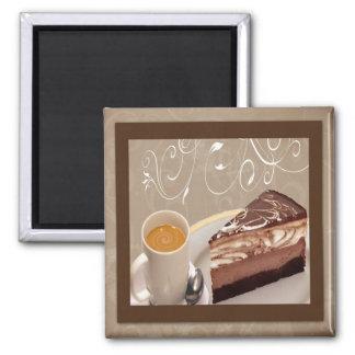 Imán del café y del pastel de queso