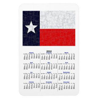 Imán del calendario de la BANDERA 2012 del ESTADO