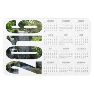 Imán del calendario de la cascada 2016 - color de