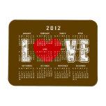 Imán del calendario del amor del chocolate