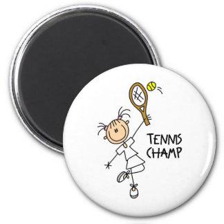Imán del campeón del tenis