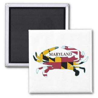 Imán del cangrejo de la bandera de Maryland