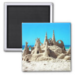 Imán del castillo de arena de la playa de Noosa