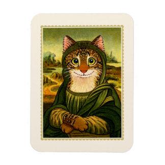 Imán del CAT de la sonrisa de Mona Lisa