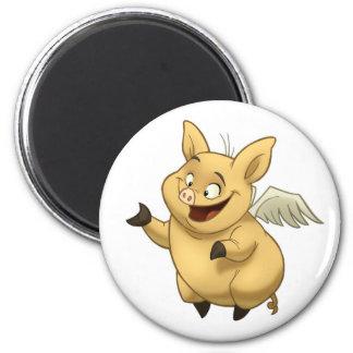 Imán del cerdo del vuelo