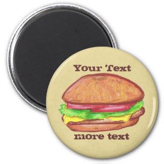Imán del cheeseburger