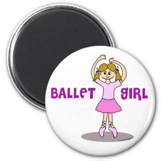 Imán del chica del ballet
