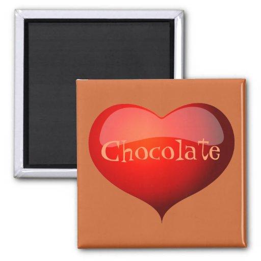 Imán del chocolate del amor